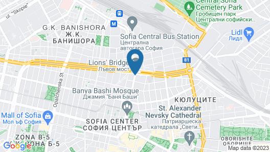Hotel Lion Sofia Map