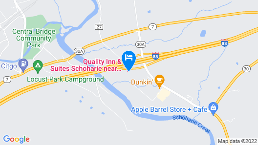 Quality Inn & Suites Schoharie near Howe Caverns Map