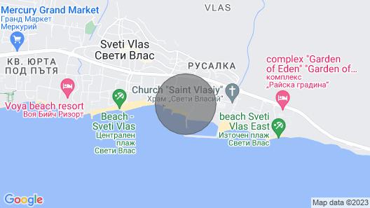 Spacious 2-bed Apt Right Beside Beach, Luxury Marina & sea - Huge Pool Map