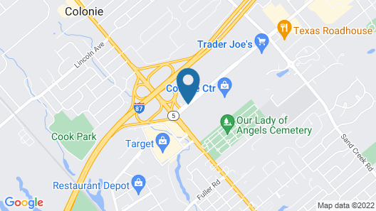 Holiday Inn Express and Suites Albany Airport- Wolf Road Map
