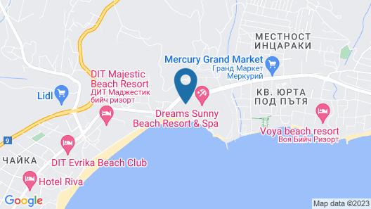 RIU Palace Sunny Beach - All Inclusive Map