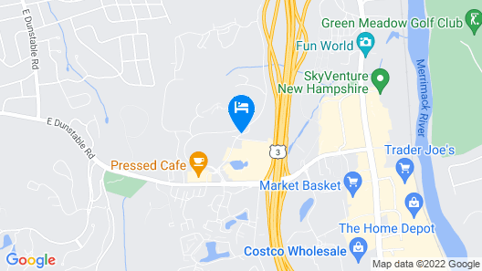Homewood Suites by Hilton Gateway Hills Nashua Map