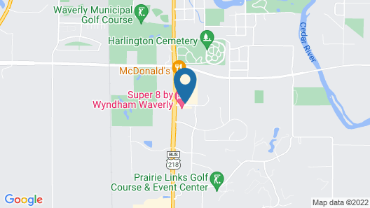 Super 8 by Wyndham Waverly Map