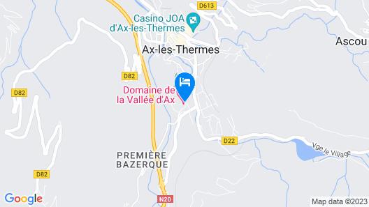 Domaine de la Vallée d'Ax Map
