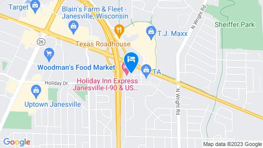 Microtel Inn by Wyndham Janesville Map