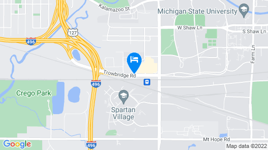 SpringHill Suites by Marriott East Lansing University Area Map