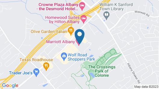 Marriott Albany Map