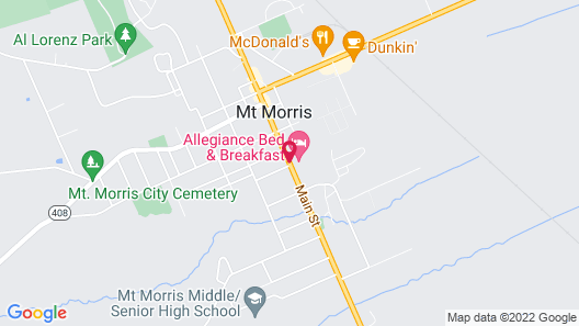 Allegiance Bed and Breakfast Map