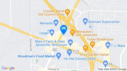 Super 8 by Wyndham Janesville Map