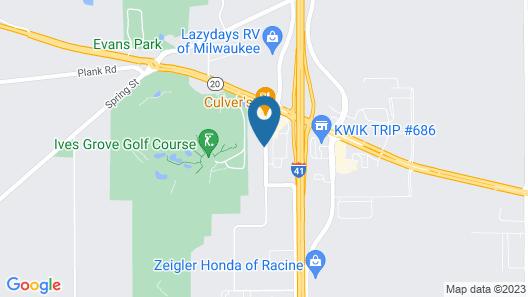 Quality Inn Sturtevant - Racine Map