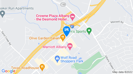 Red Roof Inn Albany Airport Map