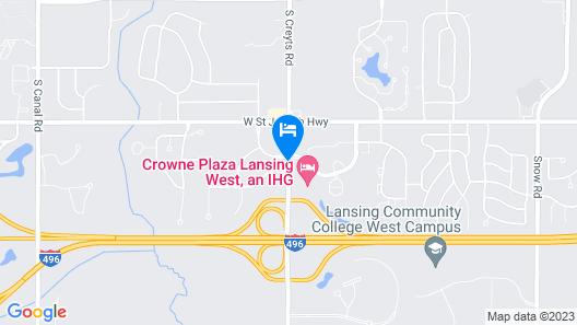 Crowne Plaza Lansing West Map