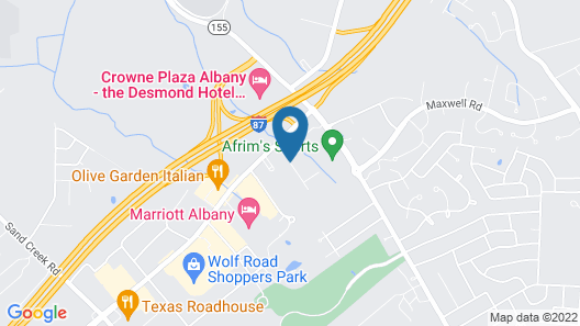 Hampton Inn Albany-Wolf Road (Airport) Map