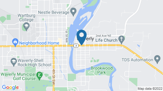 Cobblestone Inn & Suites - Waverly Map