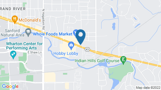 Clarion Pointe East Lansing University Area Map