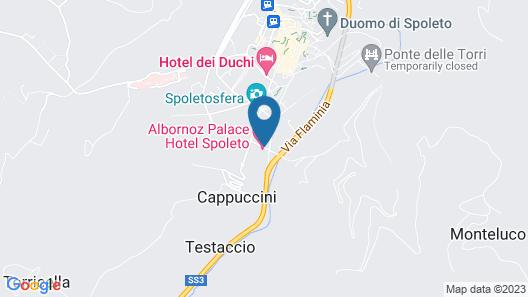 Albornoz Palace Hotel Spoleto Map