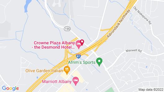 Crowne Plaza Albany - The Desmond Hotel Map