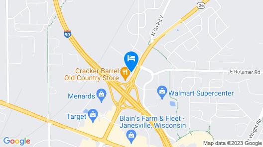 Motel 6 Janesville, WI Map