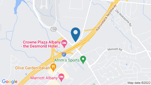 Hotel Trilogy Albany Airport, Tapestry Collection by Hilton Map