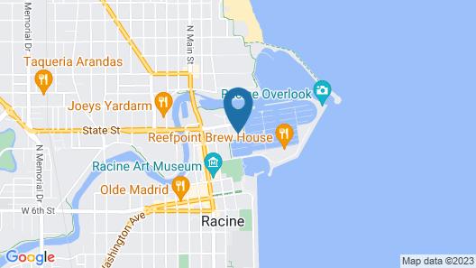 Doubletree by Hilton Hotel Racine Harbourwalk Map