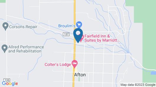 Fairfield Inn & Suites Afton Star Valley Map