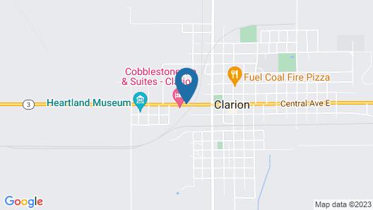 Cobblestone Inn & Suites - Clarion Map