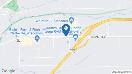 Cobblestone Inn & Suites – Platteville Map