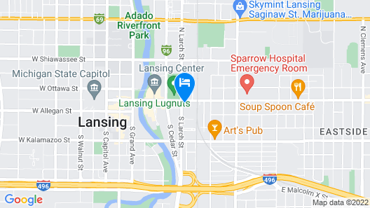 Courtyard by Marriott Lansing Downtown Map