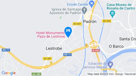 Hotel Pazo de Lestrove Map