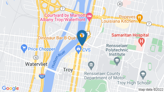 Best Western Plus Franklin Square Inn Troy/Albany Map