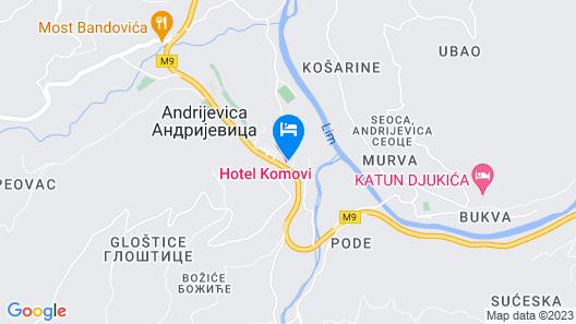 Hotel Komovi Map