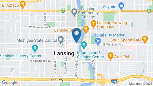 Radisson Hotel Lansing At The Capitol Map