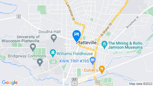 Holiday Inn Express and Suites-Platteville Map