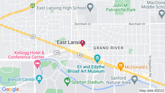 Marriott East Lansing at University Place Map
