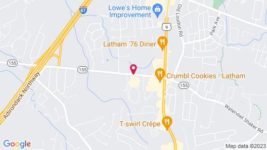 Latham Inn Map
