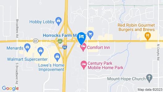 Hilton Garden Inn Lansing West, MI Map