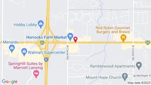 Red Roof Inn Lansing West - MSU Map