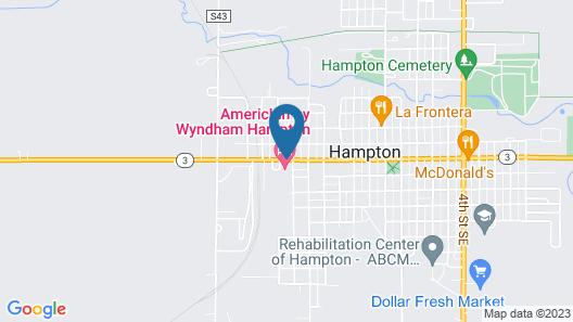 AmericInn by Wyndham Hampton Map