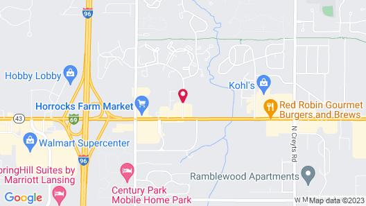 Fairfield Inn & Suites Lansing West Map