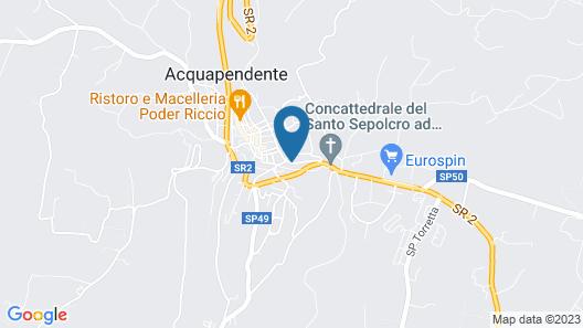 EcoAlbergo Monte Rufeno Map