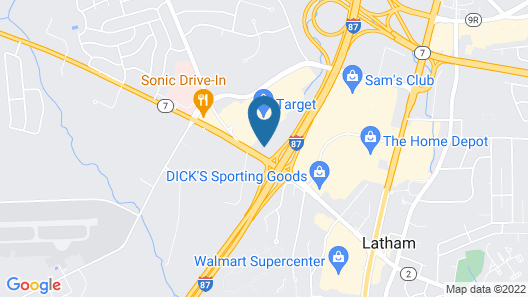 Quality Inn & Suites Albany Airport Map