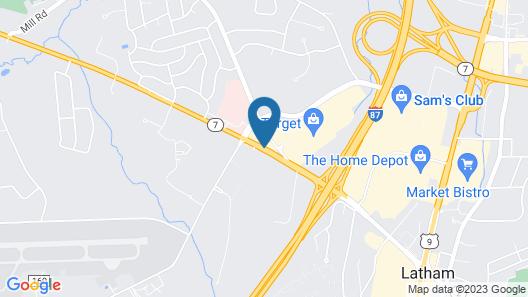 Super 8 by Wyndham Latham/Albany Troy Area Map