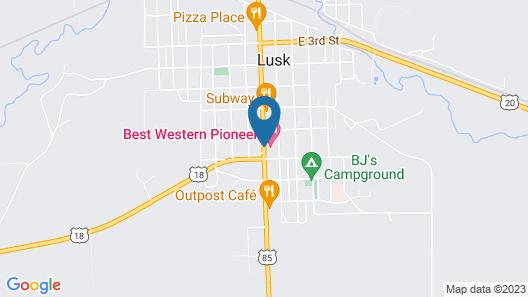 Best Western Pioneer Map