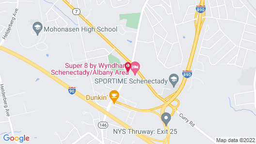 Super 8 by Wyndham Schenectady/Albany Area Map