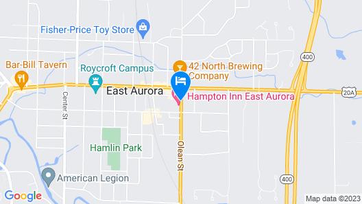Hampton Inn East Aurora Map