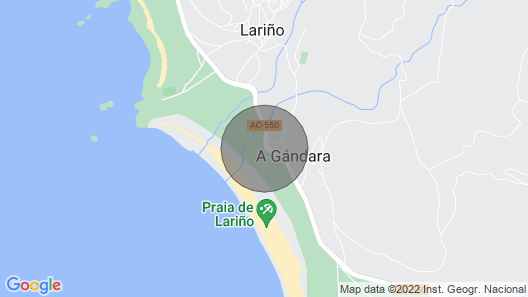 Front Line Beach Apartment in Lariño Map