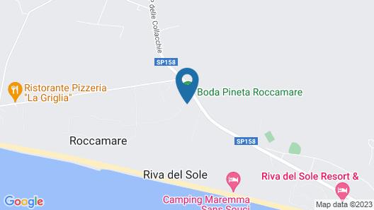 Pineta Roccamare - Toscana Map