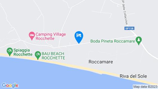 Roccamare Resort - Casa di Ponente Map