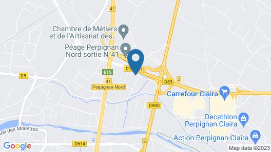 Kyriad Direct Perpignan – Aéroport Map