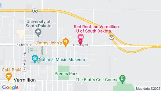 Red Roof Inn Vermillion - U of South Dakota Map